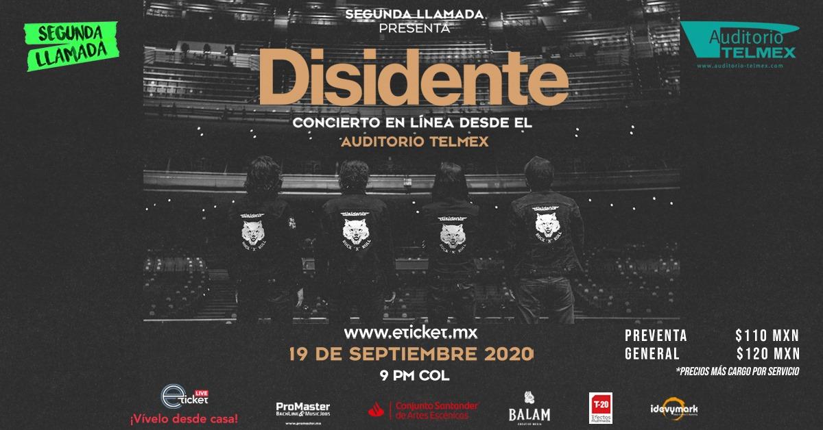 El debut del Auditorio Telmex en linea: Concierto de la banda Disidente